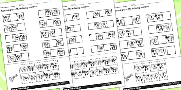 Farm Missing Numbers Worksheet - animals, numeracy, maths, count