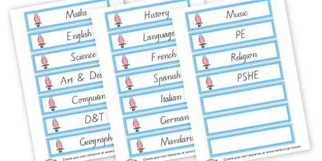 Class Subject Labels - Classroom Signs & Label Primary Resources, labels, posters, rules
