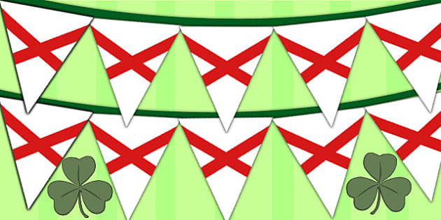 Saint Patricks Cross Display Bunting - display bunting, patrick