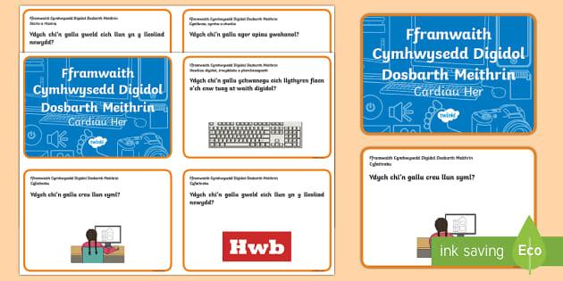 Fframwaith Cymhwysedd Digidol Dosbarth Meithrin Cardiau Her - Cardiau Her, Fframwaith Cymhwysedd Digidol, Dosbarth Meithrin, Digidol. Wales,Welsh