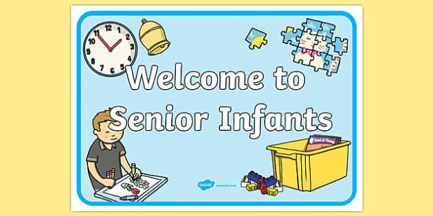 Welcome to Senior Infants Display Poster-Irish