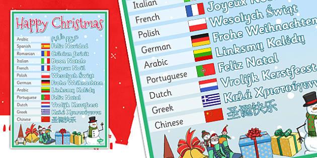 Christmas Mixed Language Signs  - christmas, language, signs