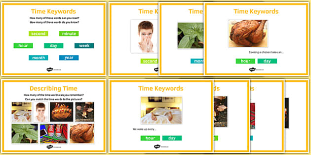 Maths Intervention Time Keyword Posters - SEN, special needs, intervention, maths, measure, time