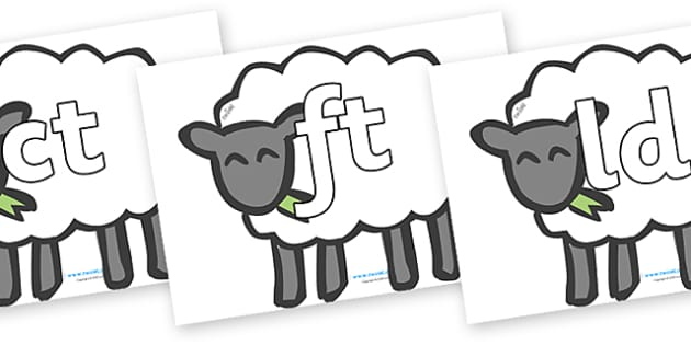 Final Letter Blends on Sheep - Final Letters, final letter, letter blend, letter blends, consonant, consonants, digraph, trigraph, literacy, alphabet, letters, foundation stage literacy