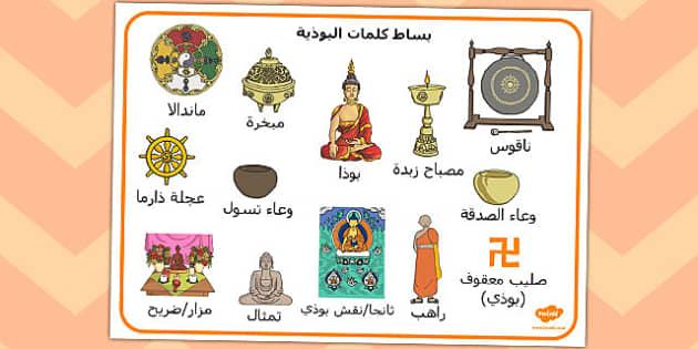 بساط كلمات البوذية - البوذية، بوذي، ديانات بوذيون، موارد تعليمية