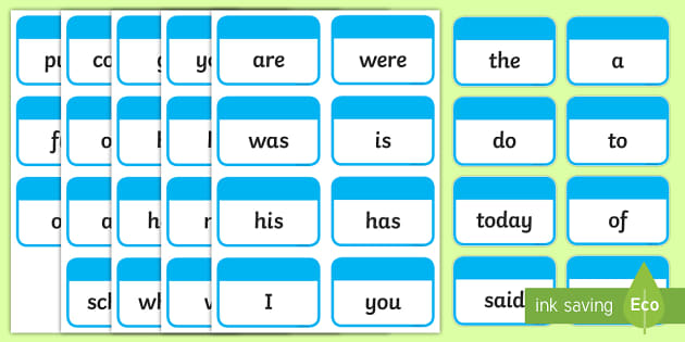 Year 1 Common Exception Words Flashcards - flashcards, exception