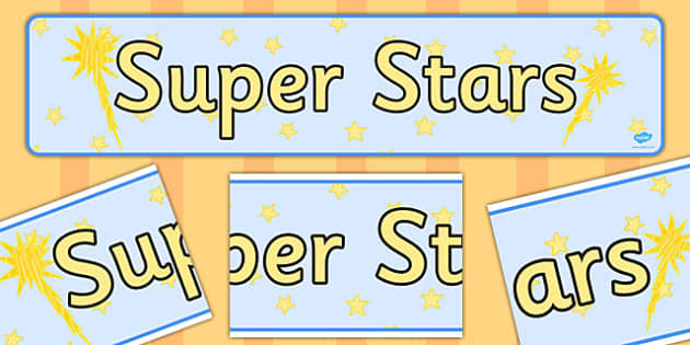 Super Stars Display Banner - super stars, display banner, display