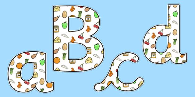 Healthy Eating Lowercase Display Lettering - healthy eating, healthy living, healthy eating display letters, healthy eating lettering, healthy food, health