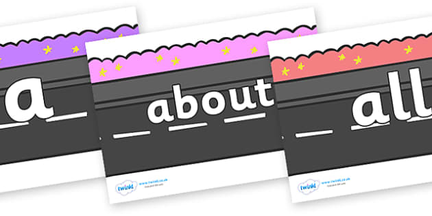 100 High Frequency Words on Roads - High frequency words, hfw, DfES Letters and Sounds, Letters and Sounds, display words