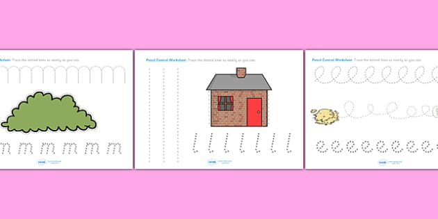 The Three Little PIgs Pencil Control Sheets - the three little pigs, pencil control, themed pencil control sheet, the three little pigs pencil control