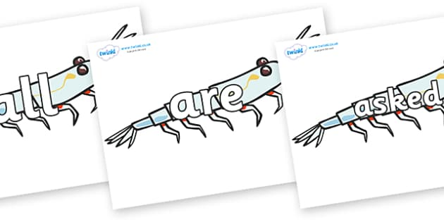 Tricky Words on Plankton - Tricky words, DfES Letters and Sounds, Letters and sounds, display, words