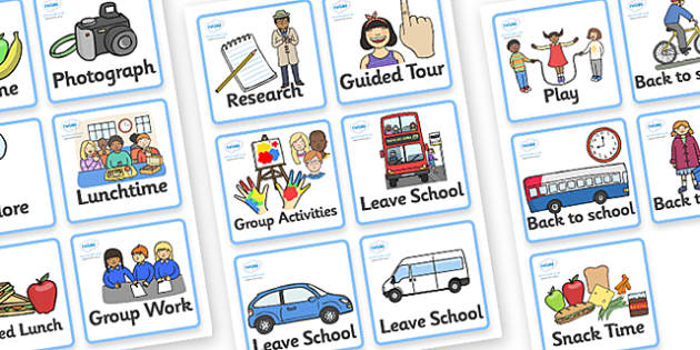 Class Outing Visual Timetable - Class Outing, Visual Timetable, Class Outing Timetable, Timetable, Outing Timetable, Class Timetable