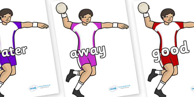 Next 200 Common Words on Handball Players - Next 200 Common Words on  - DfES Letters and Sounds, Letters and Sounds, Letters and sounds words, Common words, 200 common words