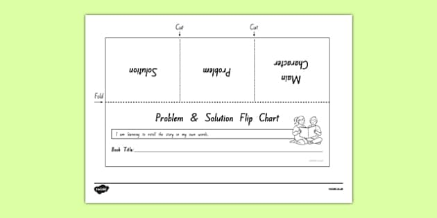 Problem and Solution Flip Chart Activity Sheet, worksheet