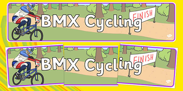 Rio 2016 Olympics BMX Cycling Display Banner - rio olympics, 2016 olympics, rio 2016, bmx cycling, display banner