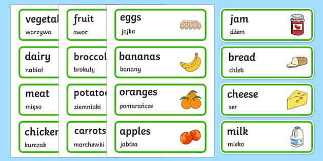 Farm Shop Labels Polish Translation - polish, Farm Shop Role Play, labels, word cards, Word Card, flashcard, flashcards, farm shop resources, farm, milk, cheese, eggs, till, animals, meat, cheese, living things, butcher, role play, display, poster