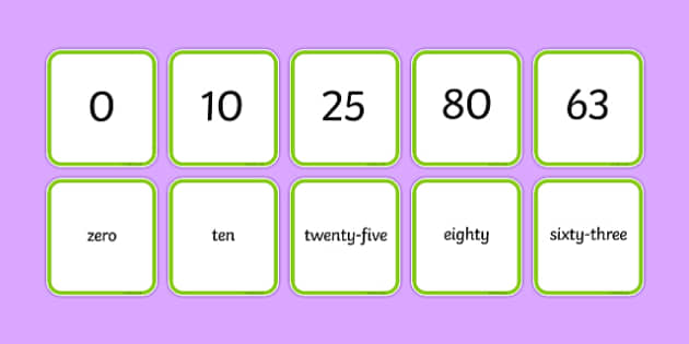 Number Snap Numerals and Number Words 0 100 - number snap, numerals, number words, 0-20,numberals, maths, numeracy, counting, game, activity, ks1, eyfs