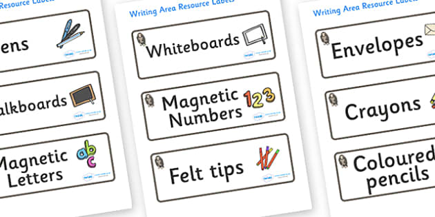 Monkey Themed Editable Writing Area Resource Labels - Themed writing resource labels, literacy area labels, writing area resources, Label template, Resource Label, Name Labels, Editable Labels, Drawer Labels, KS1 Labels, Foundation Labels, Foundation