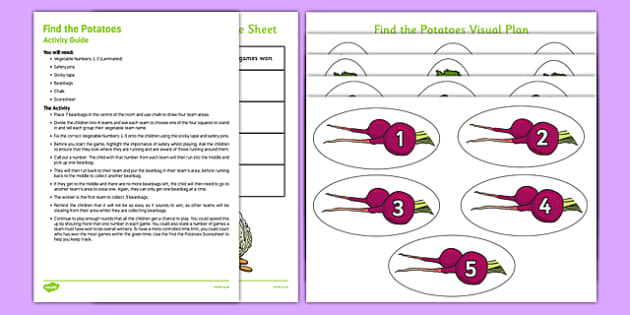 Find The Potatoes Game - find the potatoes, game, activity, find, potatoes
