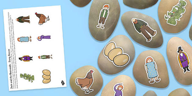Jack and the Beanstalk Story Stone Image Cut Outs - story stone, image, cut outs