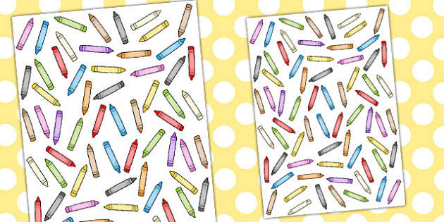 Crayon Themed A4 Sheet - a4, sheet, crayon, themed, crayons