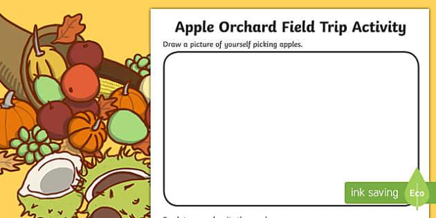 Apple Orchard Field Trip Activity Sheet