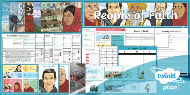 PlanIt - RE Year 4 - People of Faith Unit Pack - faith, religion, christian, christianity, islam, muslim, buddhusm, buddhist, judaism, jewish, jew, s