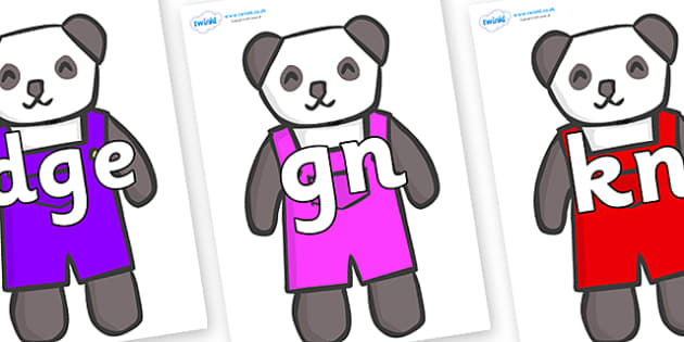 Silent Letters on Panda Bears - Silent Letters, silent letter, letter blend, consonant, consonants, digraph, trigraph, A-Z letters, literacy, alphabet, letters, alternative sounds