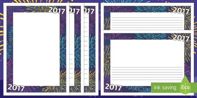 2016 Page Border - 2016, page borders, page, borders, new year, 2016 new year