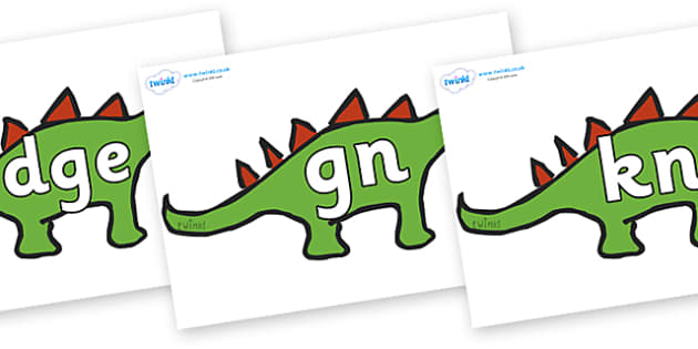 Silent Letters on Dinosaurs - Silent Letters, silent letter, letter blend, consonant, consonants, digraph, trigraph, A-Z letters, literacy, alphabet, letters, alternative sounds