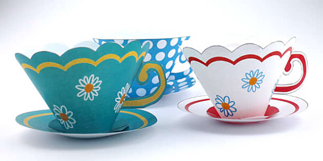Paper teacup Craft Activity - activity, craft, paper, teacup