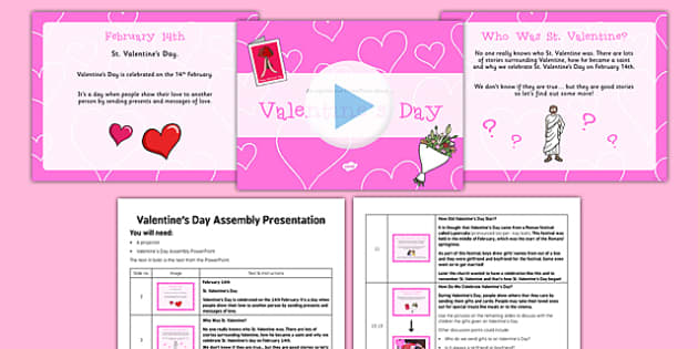 Valentine's Day Assembly Pack - valentines day, assembly pack, assembly, pack