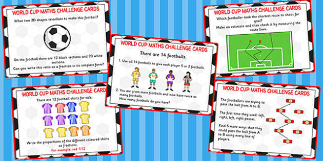 World Cup Maths Challenge Cards KS2 - challenge, cards, ks2