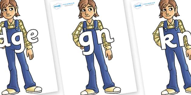 Silent Letters on Hogarth - Silent Letters, silent letter, letter blend, consonant, consonants, digraph, trigraph, A-Z letters, literacy, alphabet, letters, alternative sounds
