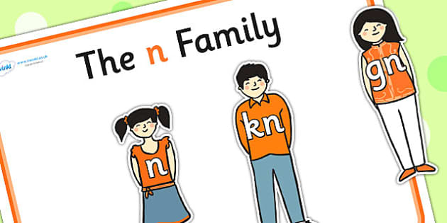 N Sound Family Cut Outs - sound families, sounds, cutouts, cut