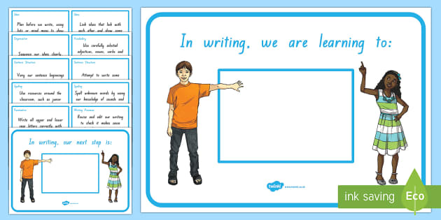 New Zealand Writing, Third Year of School, We Are Learning and Our Next Learning Steps, Display Posters