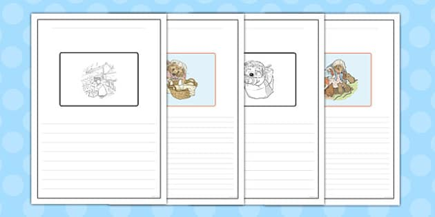The Tale of Mrs Tiggy Winkle Story Writing Frames - mrs tiggy winkle