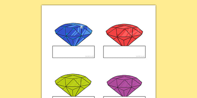 Little Gem Editable Self Registration - gem, precious stones, ks1, ks2, class, display, colourful, classname