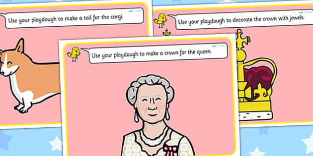 Jubilee Playdough Mats - diamond jubilee, jubilee, queen, mat, activity, playdough, queen's, wedding anniversary, roay family, Queen Elizabeth II, Elizabeth II, sapphire