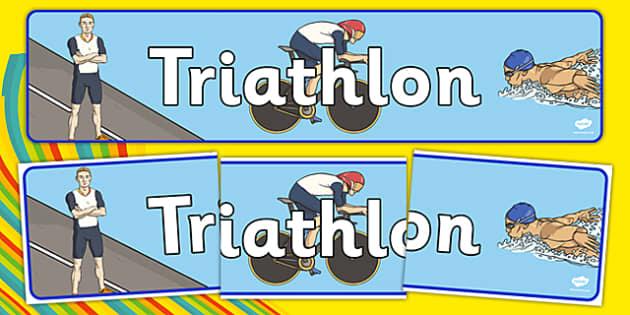 Rio 2016 Olympics Triathlon Display Banner - rio olympics, 2016 olympics, rio 2016, triathlon, display banner