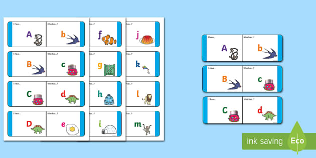 Alphabet Upper to Lower Case Loop Cards - English/Literacy Loop Cards,Australia
