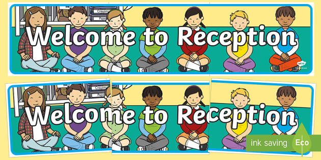 Welcome to Reception Display Banner - welcome to reception, welcome, reception, display banner, display, banner