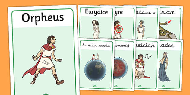 Orpheus and Eurydice Display Posters - display, orpheus, eurydice