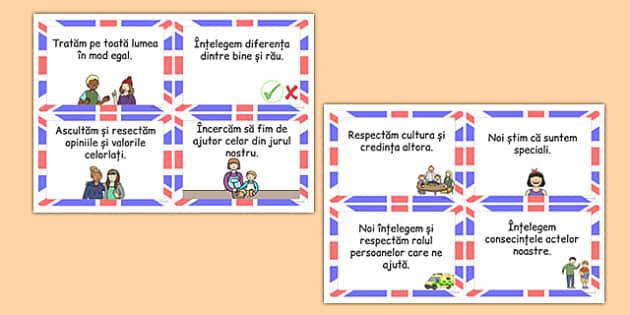 Valorile britanice - Cartonașe