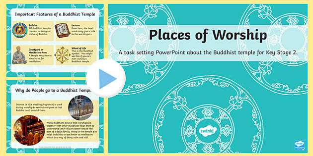 Places of Worship Buddhist Temples KS2 PowerPoint - powerpoints