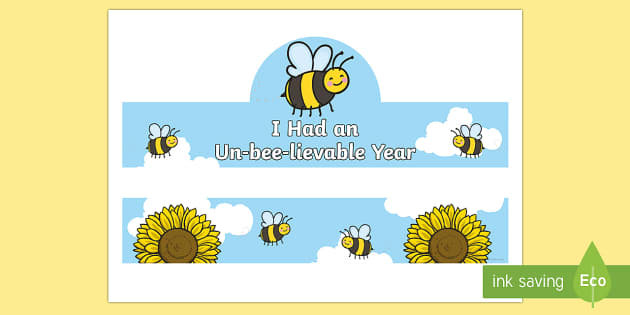 End of Year Bee Hat Activity