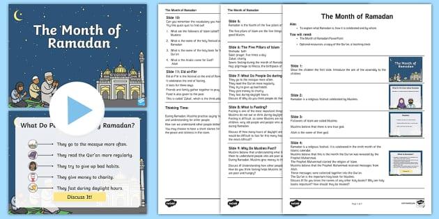ks1 the month of ramadan assembly pack ramadan eid