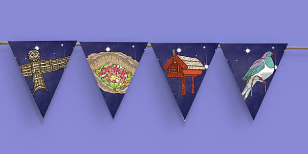 Matariki Themed Bunting - nz, new zealand, matariki, bunting, display bunting, display