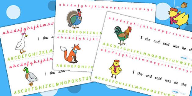 Chicken Licken Alphabet Strips - alphabet, stories, a-z, books