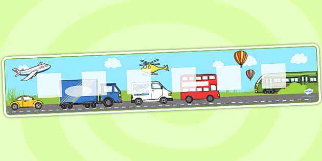 Transport Theme Visual Timetable Display - Visual Timetable, education, home school, child development, children activities, free, kids, transport